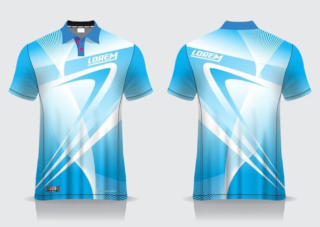Download T-shirt polo sport ontwerp, badminton jersey mockup voor ...
