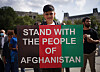 People at an Afghan solidarity rally in Trafalgar Square, London, to oppose the Taliban and show that Britain stands with Afghanistan and supports the resistance to the Taliban. Picture date: Sunday September 12, 2021.
