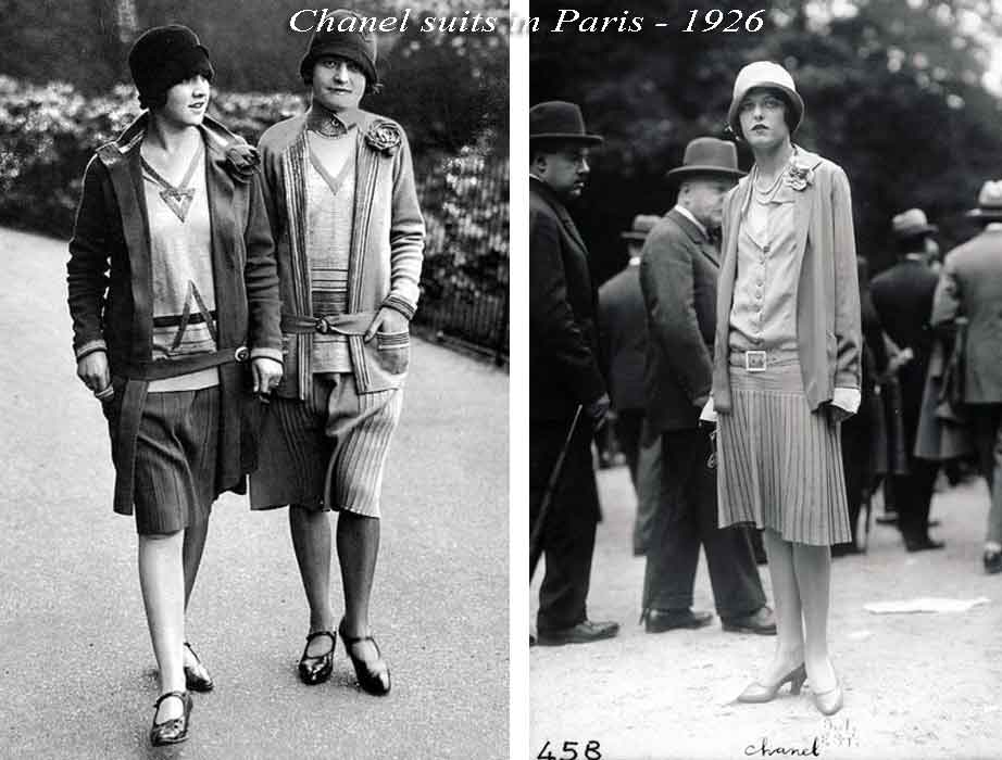 Coco Chanel suits from the 20s in Paris.