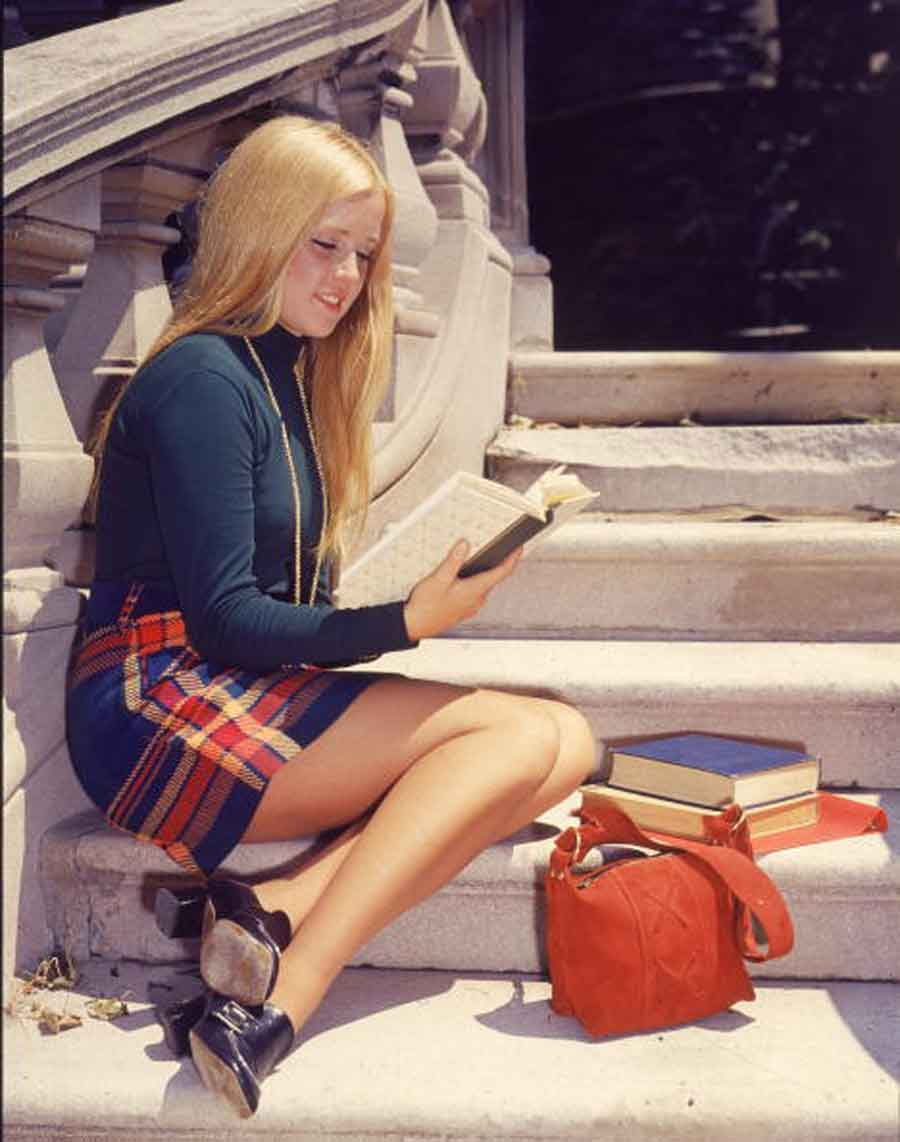 100   Years of College Girl Fashion   Glamour Daze 1970s college fashion   getty library