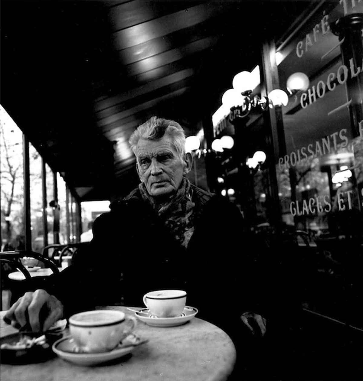 1985-Samuel-Beckett,-Boulevard-St-Jacques,-Paris,-1985