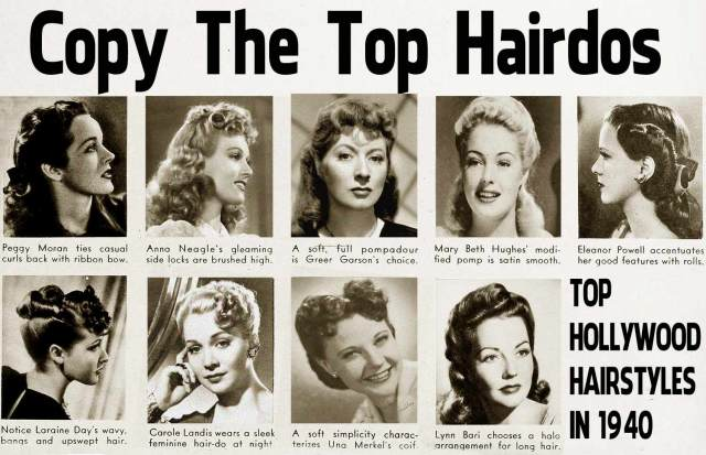 1940s hairstyle - copy the top hairdos of 1941 | glamour daze