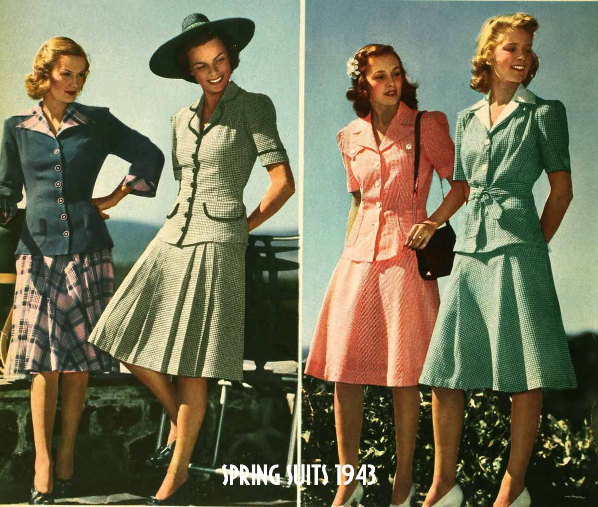 1940s Fashion   Spring College Suits for 1943   Glamour Daze 1940s Fashion   Spring College Suits for 1943