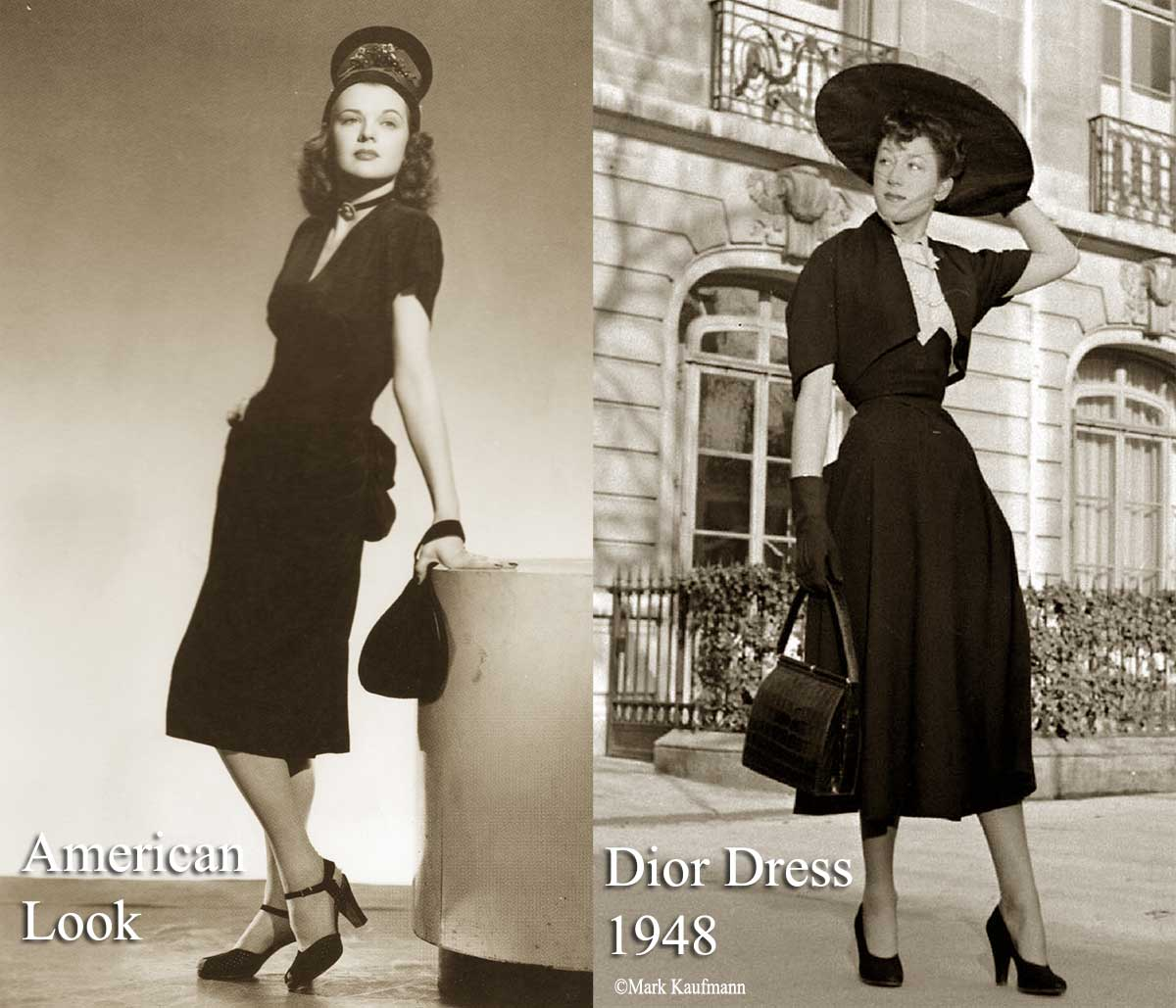 1940s Fashion   The American Look vs Dior 1947   Glamour Daze 1940s post war fashion   America vs Paris