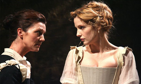 Michelle Fairley and Kelly Reilly in Othello. Photograph: Tristram Kenton