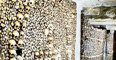 The catacombs in Paris