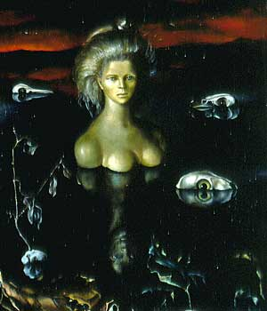 Leonor Fini: The ends of the earth, 1949