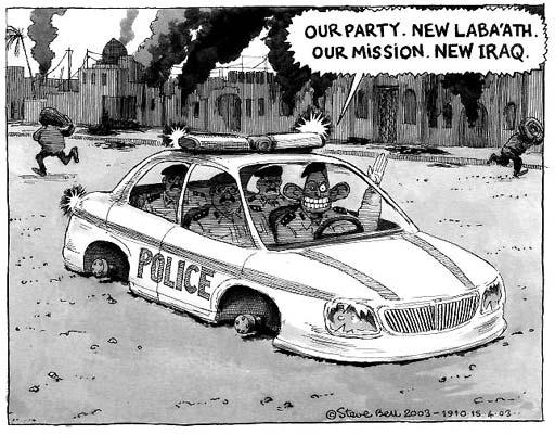 Steve Bell cartoon on Blair and Iraq war