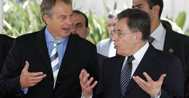 Tony Blair meets Lebanese PM Fouad Siniora