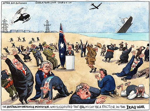 Oil and the Iraq war, cartoon by Steve Bell