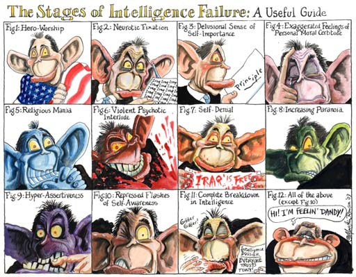 Tony Blair's delusions, cartoon by Martin Rowson