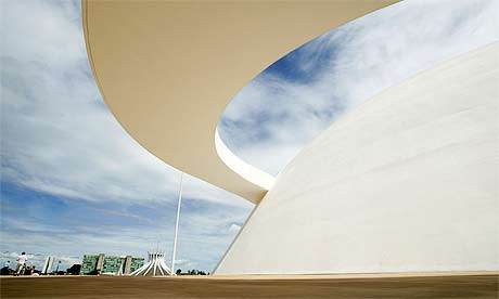 The Museum of the Republic in Brasilia, designed by the architect Oscar Niemeyer