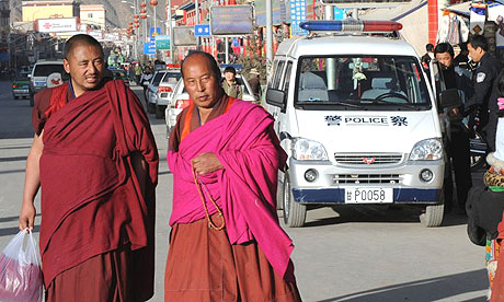Buddhist  monks   ............in  Labrang , Tibet