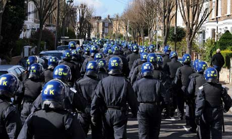 Riot Police in Finsbury