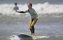 Learning to surf at the Gower, Swansea