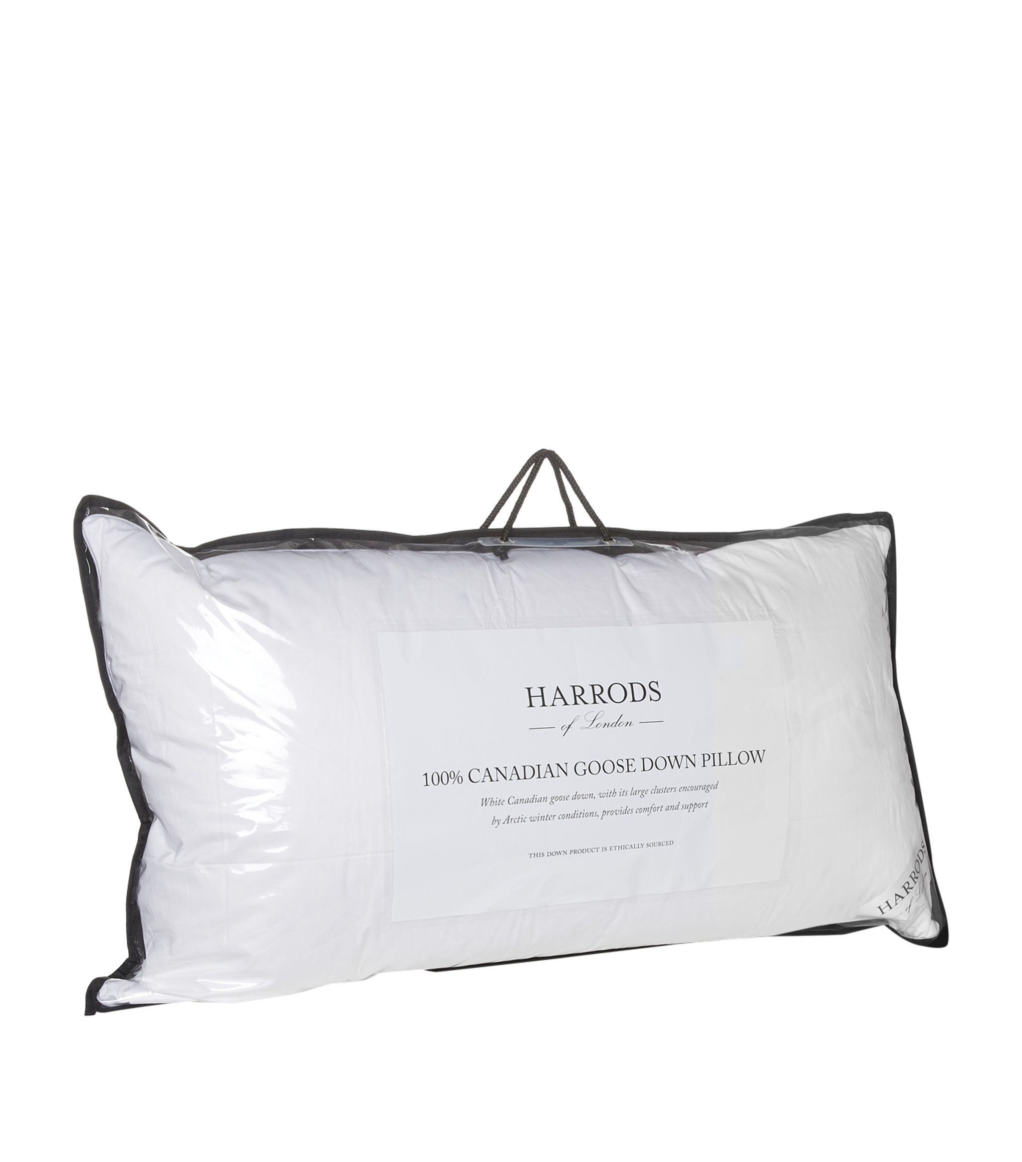 harrods of london 100 canadian goose down pillow 50cm x 90cm harrods us