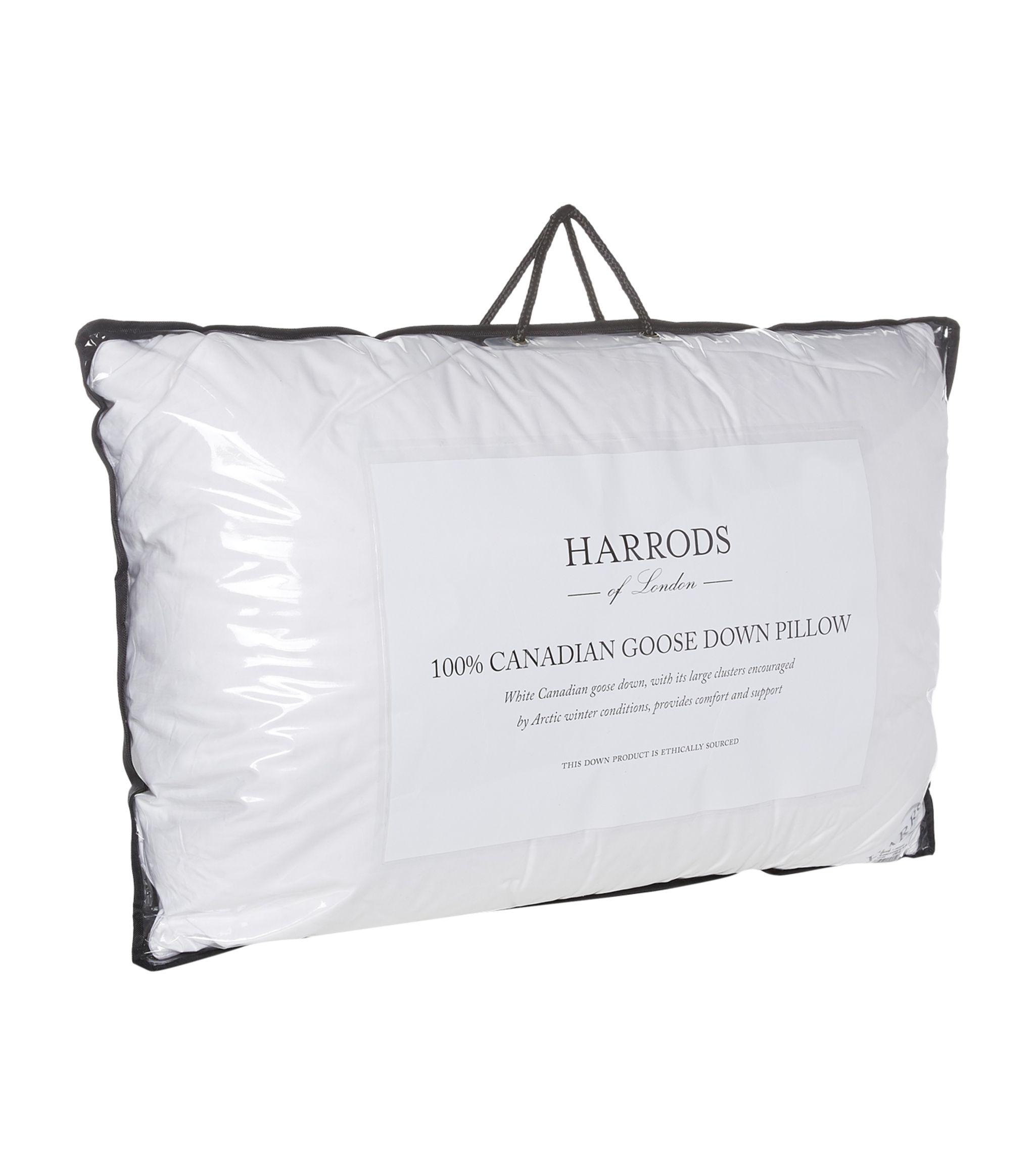 harrods of london white medium firm 100 canadian goose down pillow harrods uk