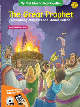 Nabi Ibrahim dibakar penyembah berhala yang marah, pada sebuah sampul buku