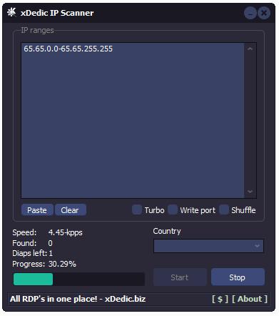 xDedic IP Scanner