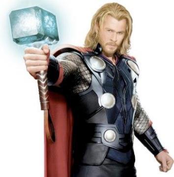 Thor, dewa petir dalam sebuah film