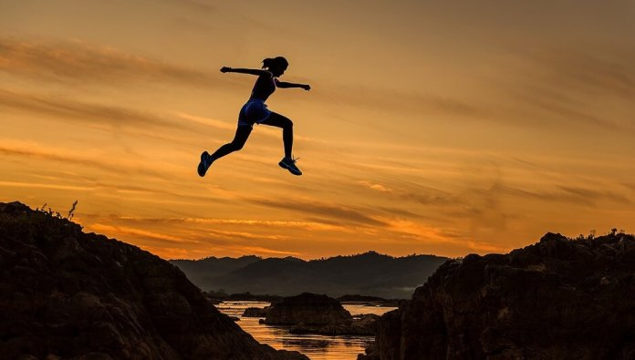 jumping successful