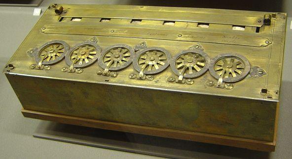 Kalkulator mekanik yang dibuat Blaine Pascal pada tahun 1642