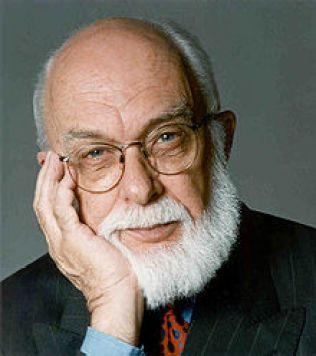 James Randi. Pesulap, penulis, skeptik. Menyediakan 1 juta dolar untuk siapapun yang bisa membuktikan kemampuan paranormal.