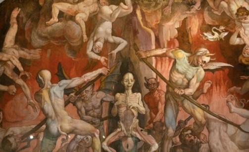 Gambaran neraka yang terlukis di Katedral Florence Italia