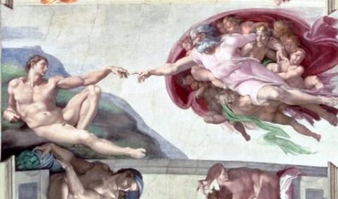 Allah menciptakan Adam, dalam sebuah lukisan Michelangelo. Tak ada mahluk lain yang diciptakan dengan spesial seperti manusia