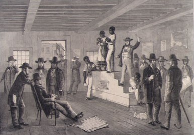Lelang budak di Amerika saat perbudakan masih legal