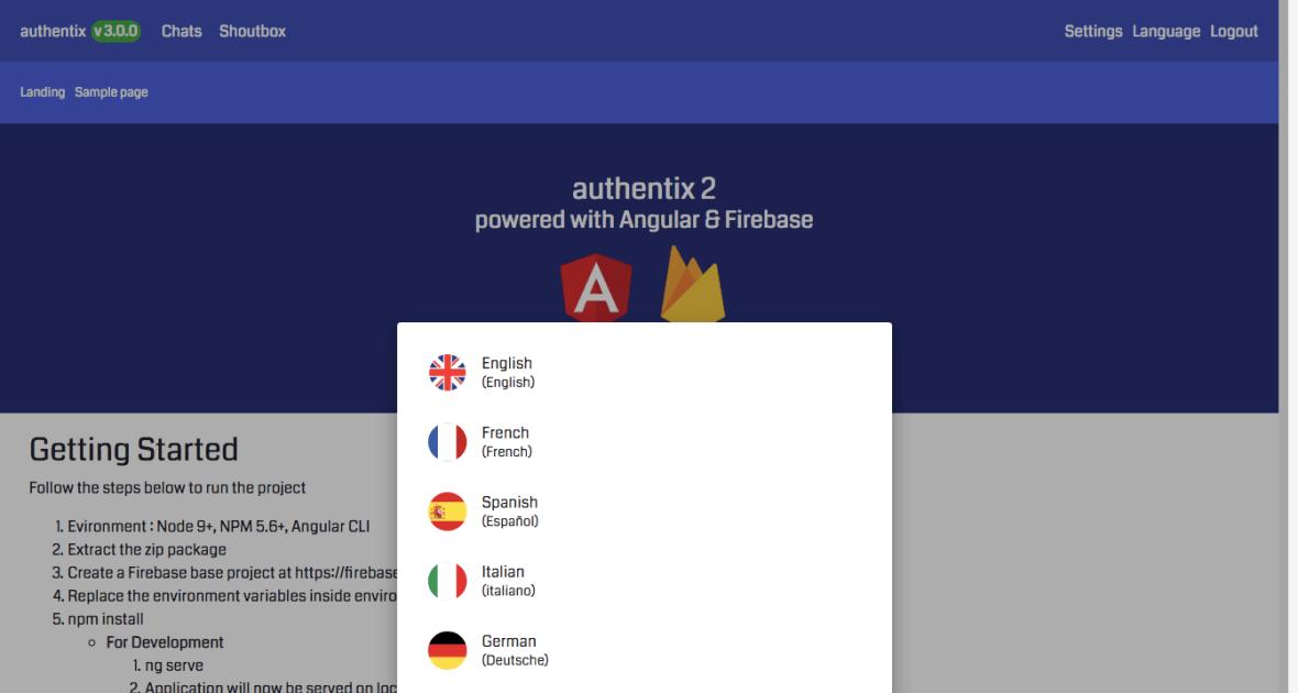 Authentix - Angular 7 & Firebase Starter + Node.js Admin Panel - 2