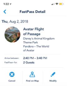 Fastpass Details