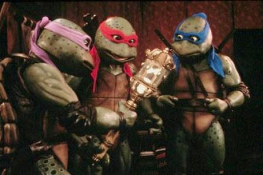 Kura-kura Ninja, salah satu jenis mutan dalam film. Gambar dari Corbis