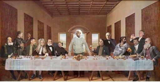 Perjamuan terakhir kaum saintis. Siapa yang akan disalib esok? Tuhan?