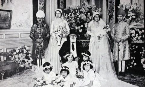 Khalifah terakhir, Abdul Mecid pada pesta pernikahan putrinya