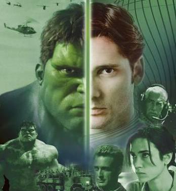 Hulk dan Bruce Banner yang tercipta akibat kecelakaan di lab.