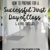 How to Prepare for a Successful First Day of Class (+ A Free Printable Checklist!)