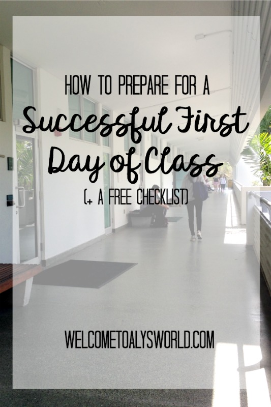 How to Prepare for a Successful First Day of School Class | It's almost time to go back to school! Here's how to prepare to have a successful first day of class.