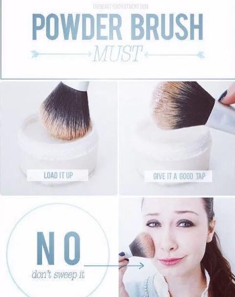 powder methods of makeup