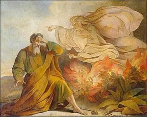 Lukisan Musa melihat api di Saint Isaac's Cathedral, Saint Petersburg