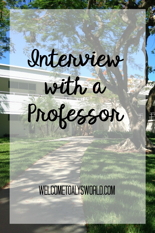Interview With A Professor