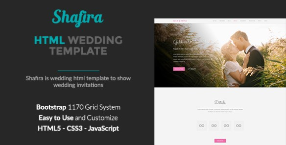 shafira wedding html template