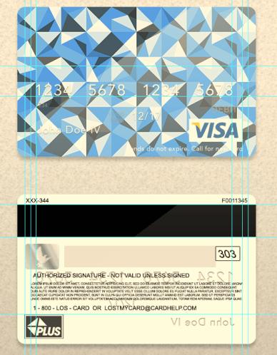 VISA Card PSD Template