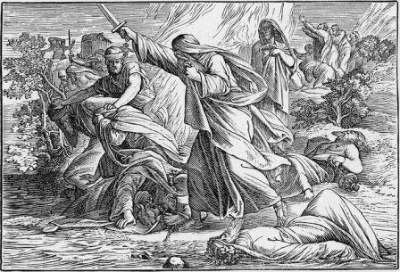 Nabi Elia, membunuh 450 orang pemuka agama Baal