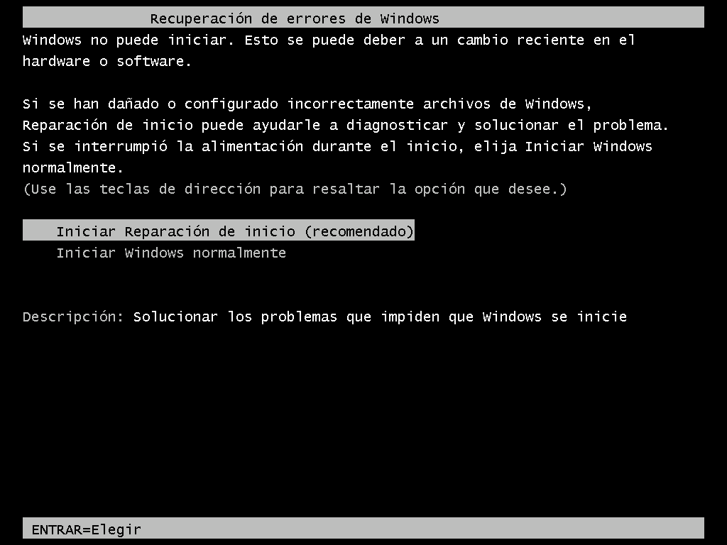 Reparación de errores de Windows - Borrar clave en Windows 7