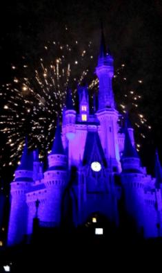 Cinderella Castle Blue Glow