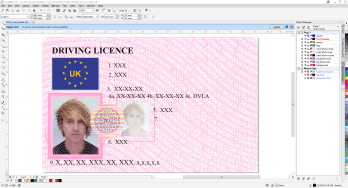 UK Driving licence Coreldraw template