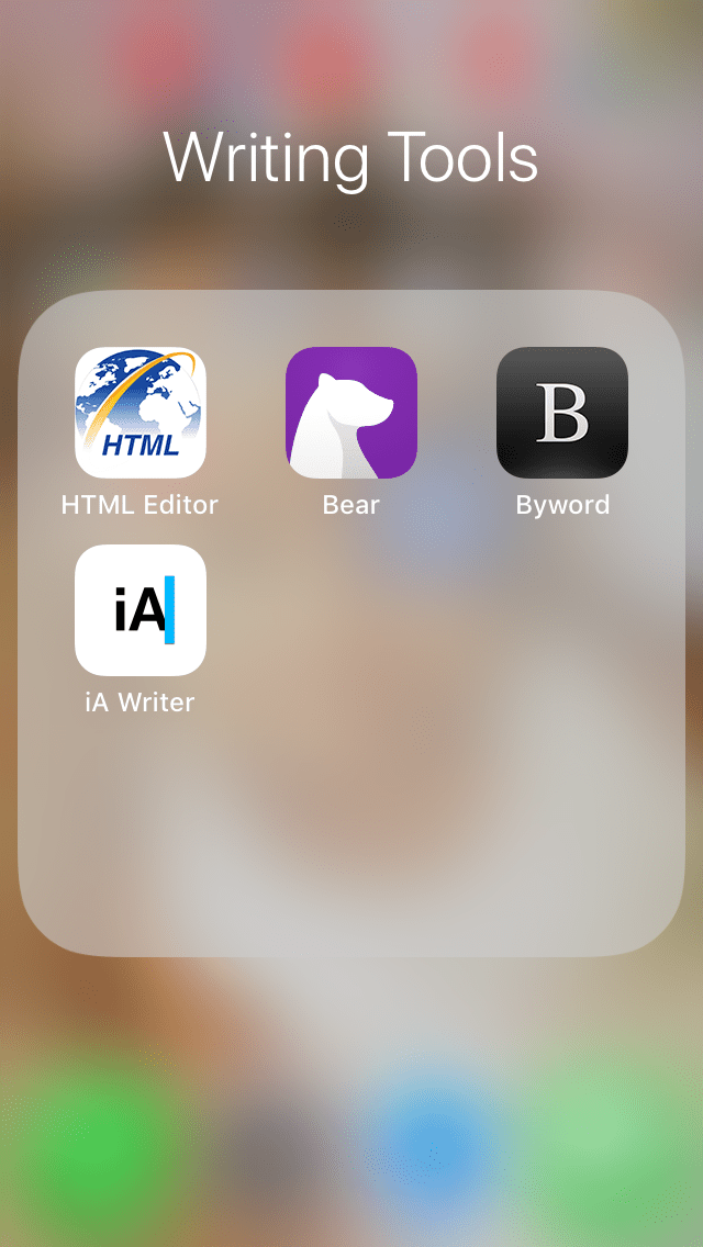 The writer apps I downloaded: For Mobile Blogging