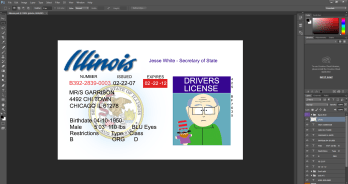 Illinois driving licence psd template