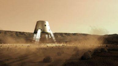 Pesawat kargo mendarat di Mars